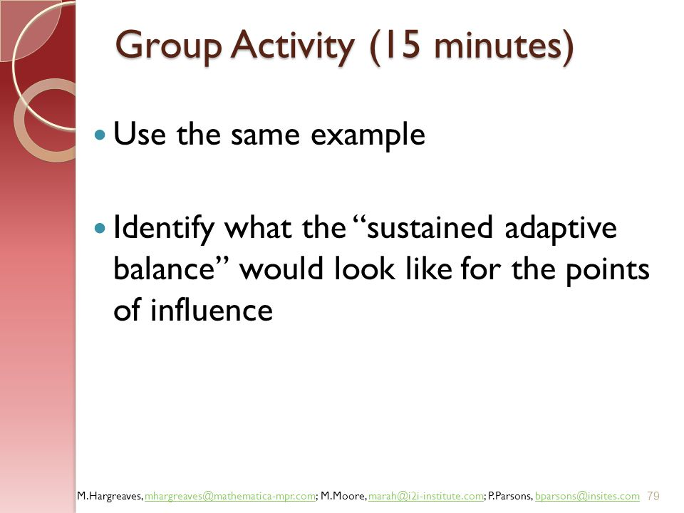 Group Activity (15 minutes)