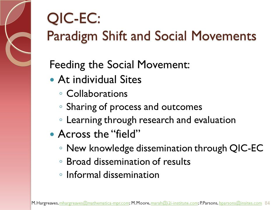 QIC-EC: Paradigm Shift and Social Movements
