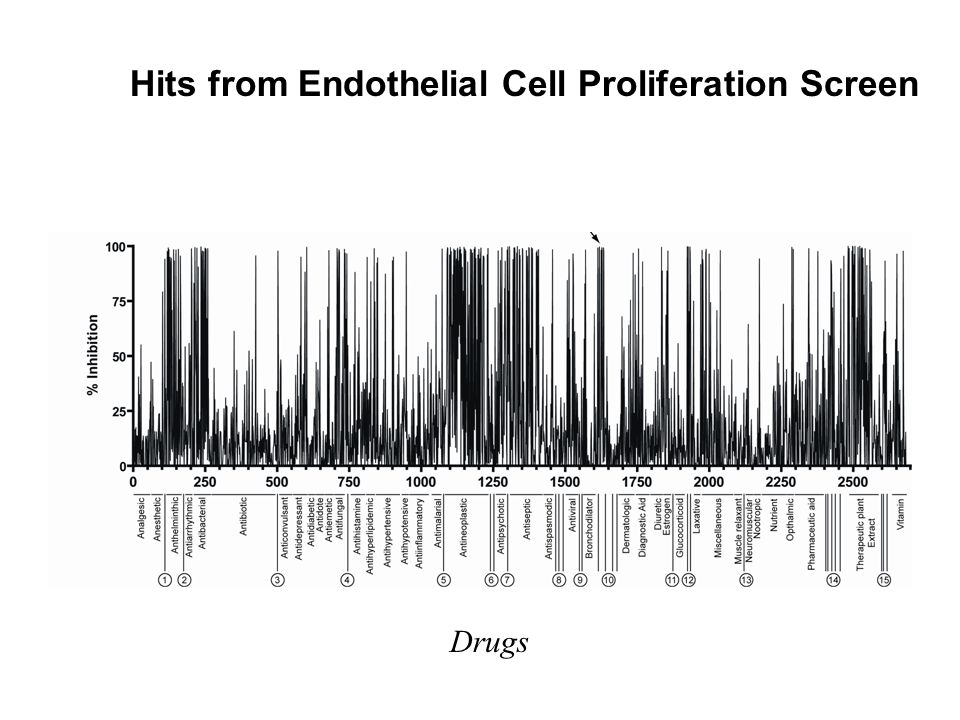 Hits from Endothelial Cell Proliferation Screen