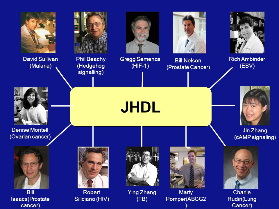 JHDL David Sullivan (Malaria) Phil Beachy (Hedgehog signalling)