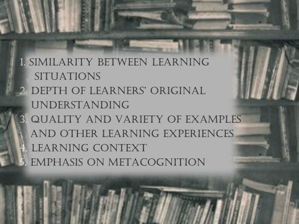 1. SIMILARITY BETWEEN LEARNING