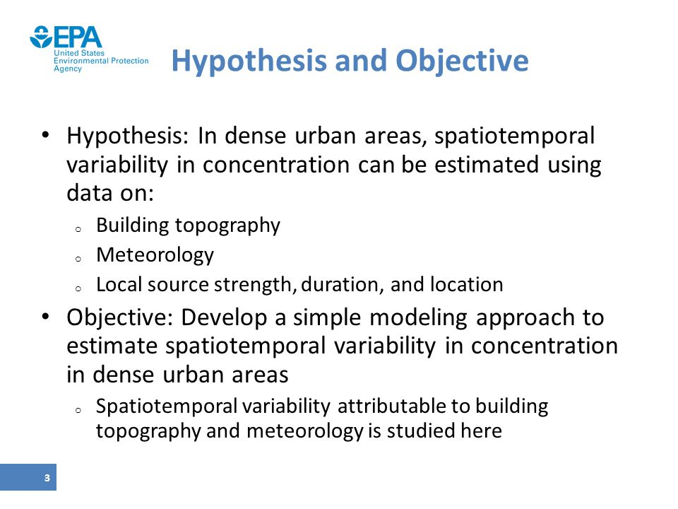 Hypothesis and Objective