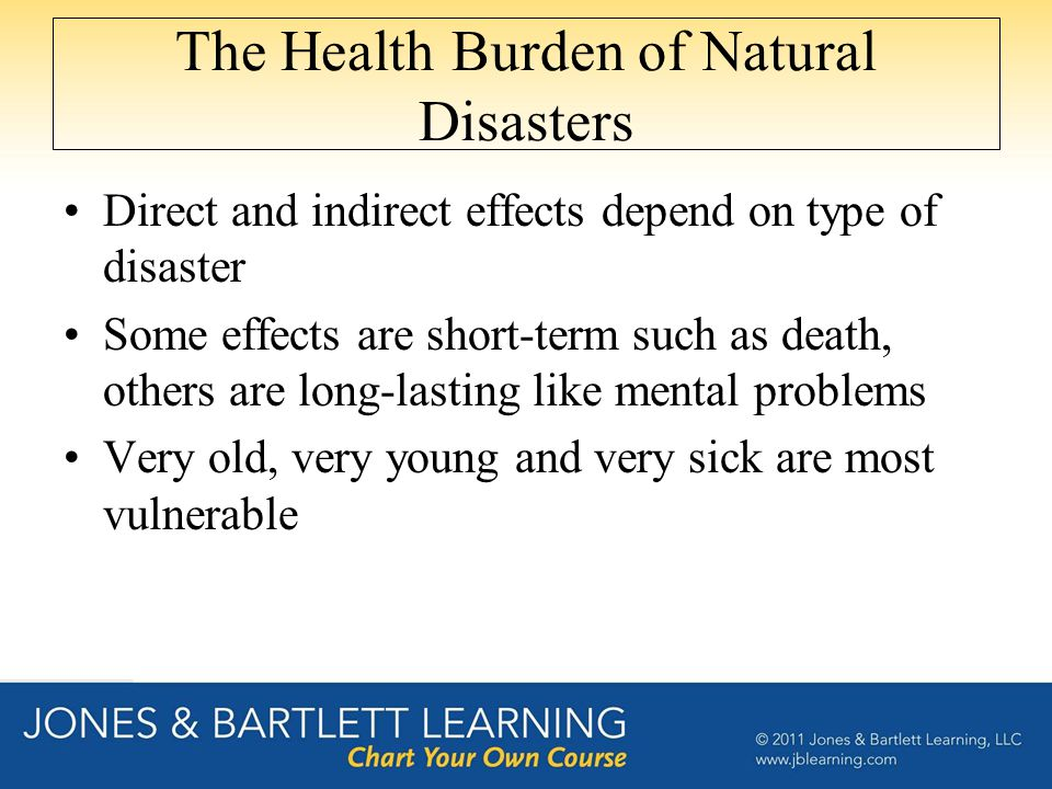 The Health Burden of Natural Disasters