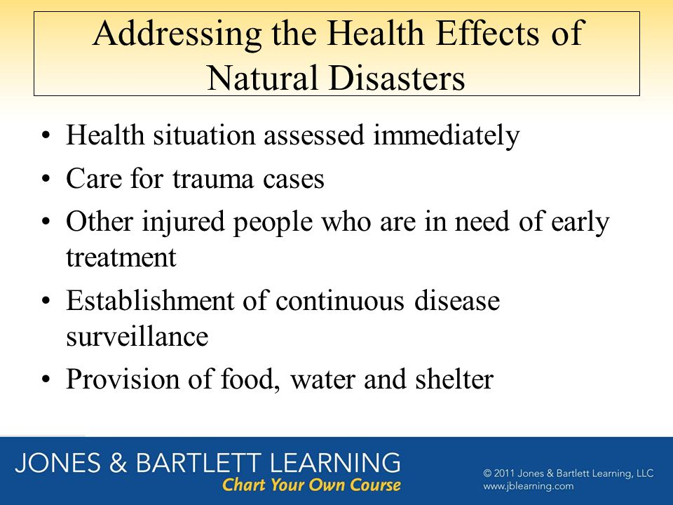 Addressing the Health Effects of Natural Disasters