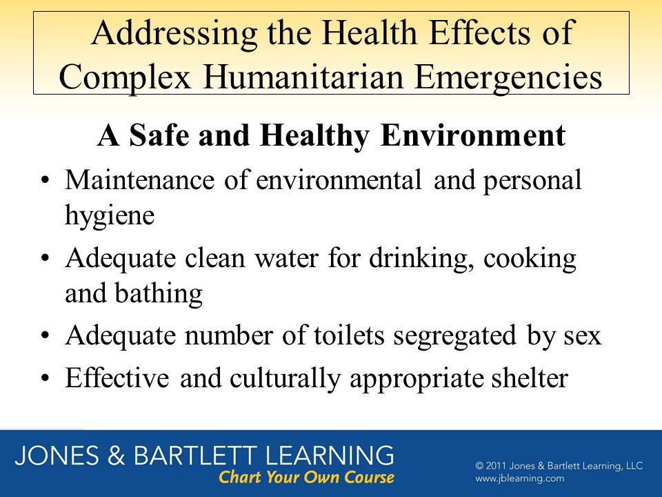 Addressing the Health Effects of Complex Humanitarian Emergencies