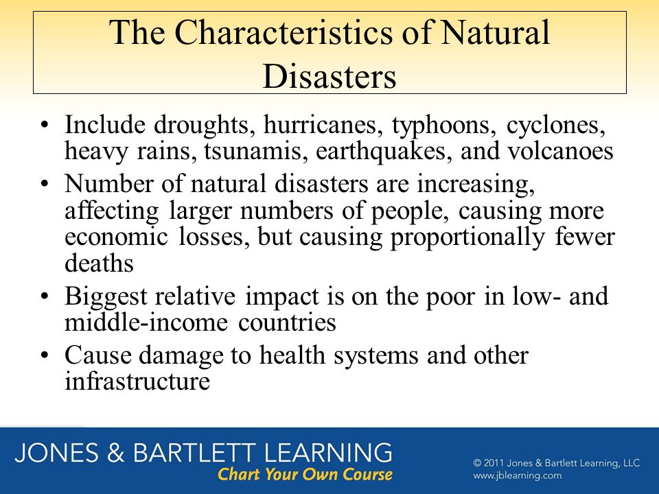 The Characteristics of Natural Disasters