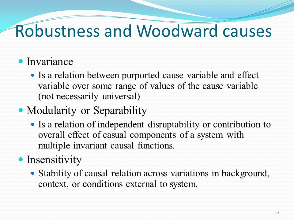Robustness and Woodward causes