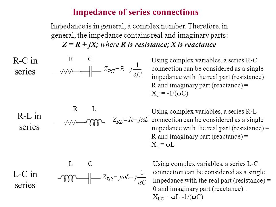 Impedance of series connections