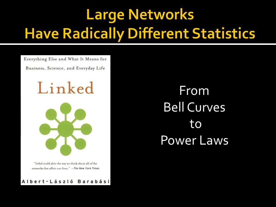Large Networks Have Radically Different Statistics