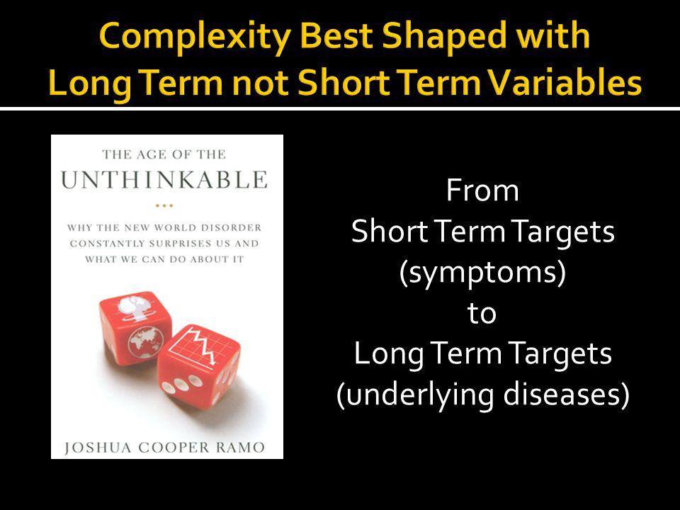 Complexity Best Shaped with Long Term not Short Term Variables