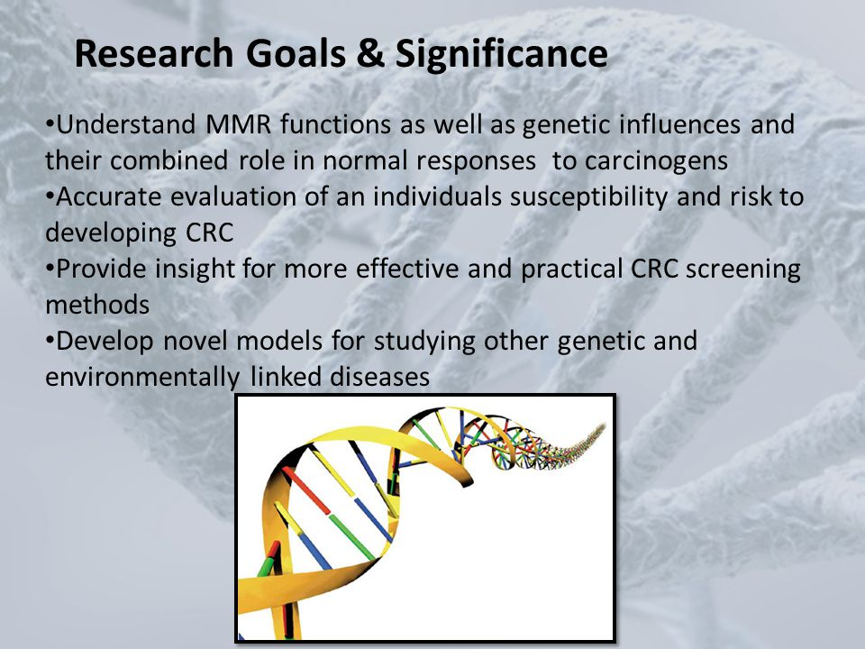 Goals Research Goals & Significance