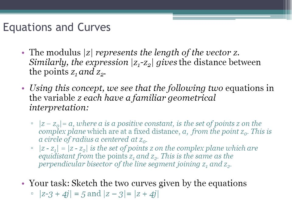 Equations and Curves