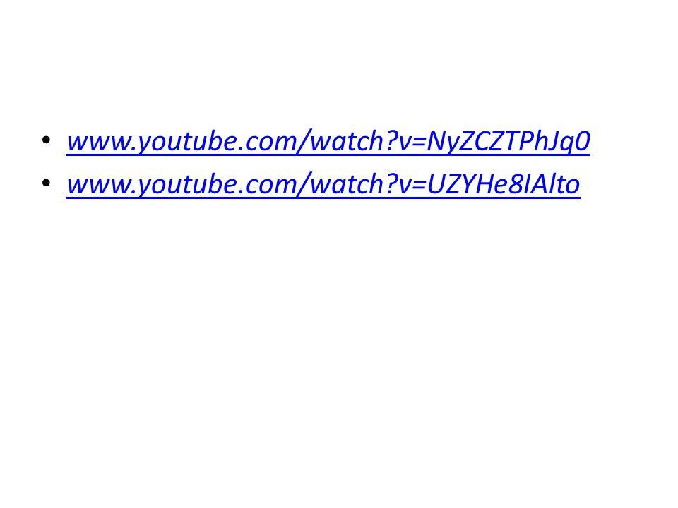 www.youtube.com/watch v=NyZCZTPhJq0 www.youtube.com/watch v=UZYHe8IAlto