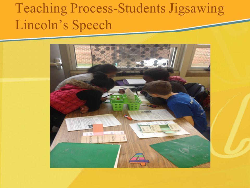 Teaching Process-Students Jigsawing Lincoln's Speech