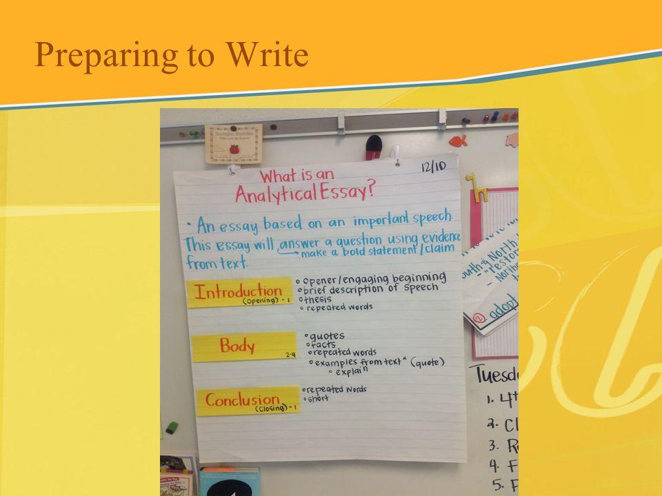 Preparing to Write