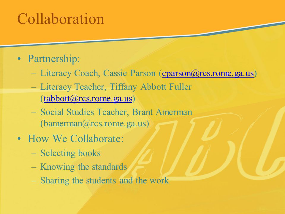 Collaboration Partnership: How We Collaborate: