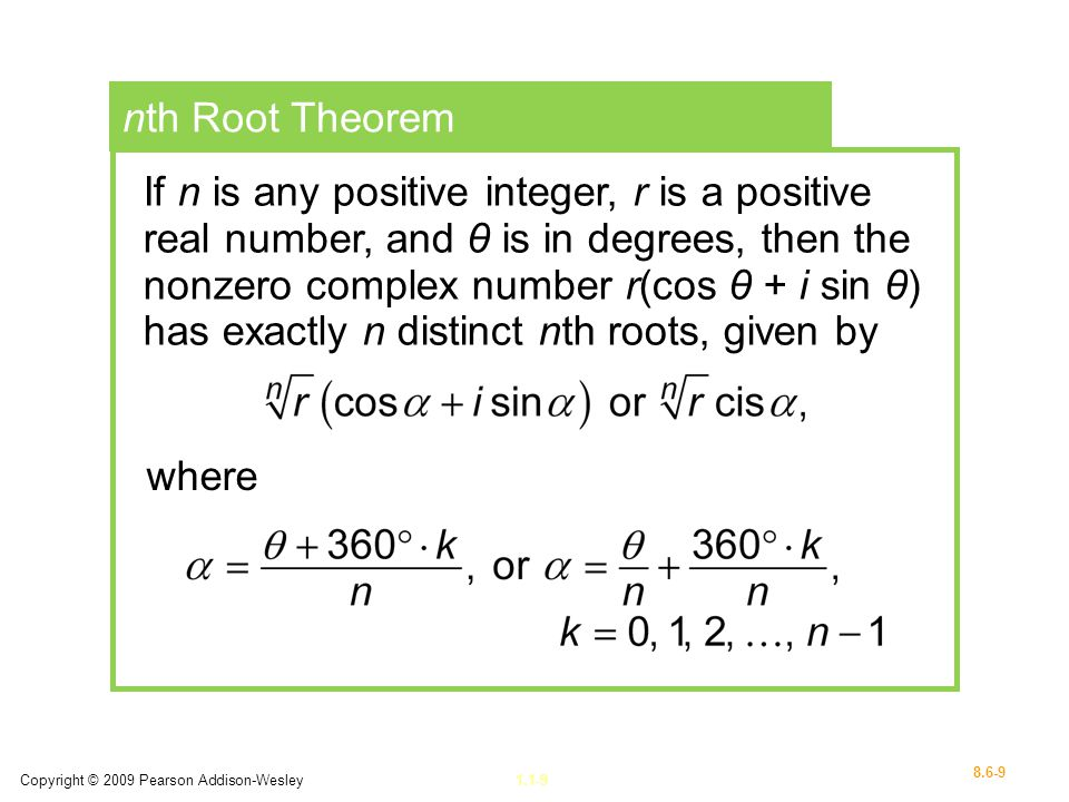 nth Root Theorem