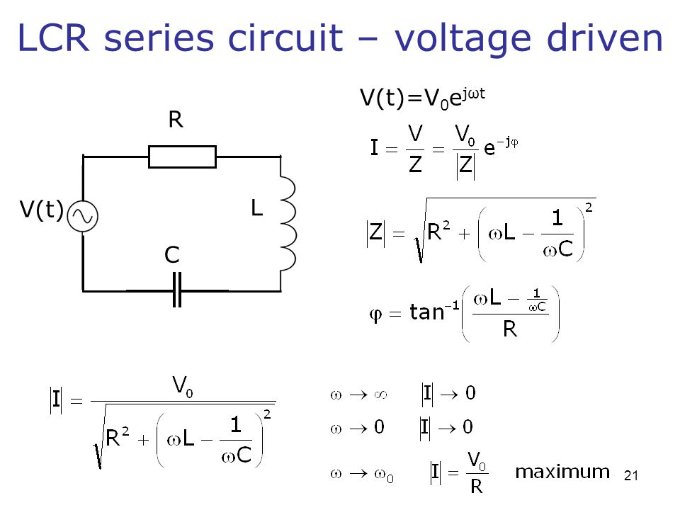 LCR series circuit – voltage driven