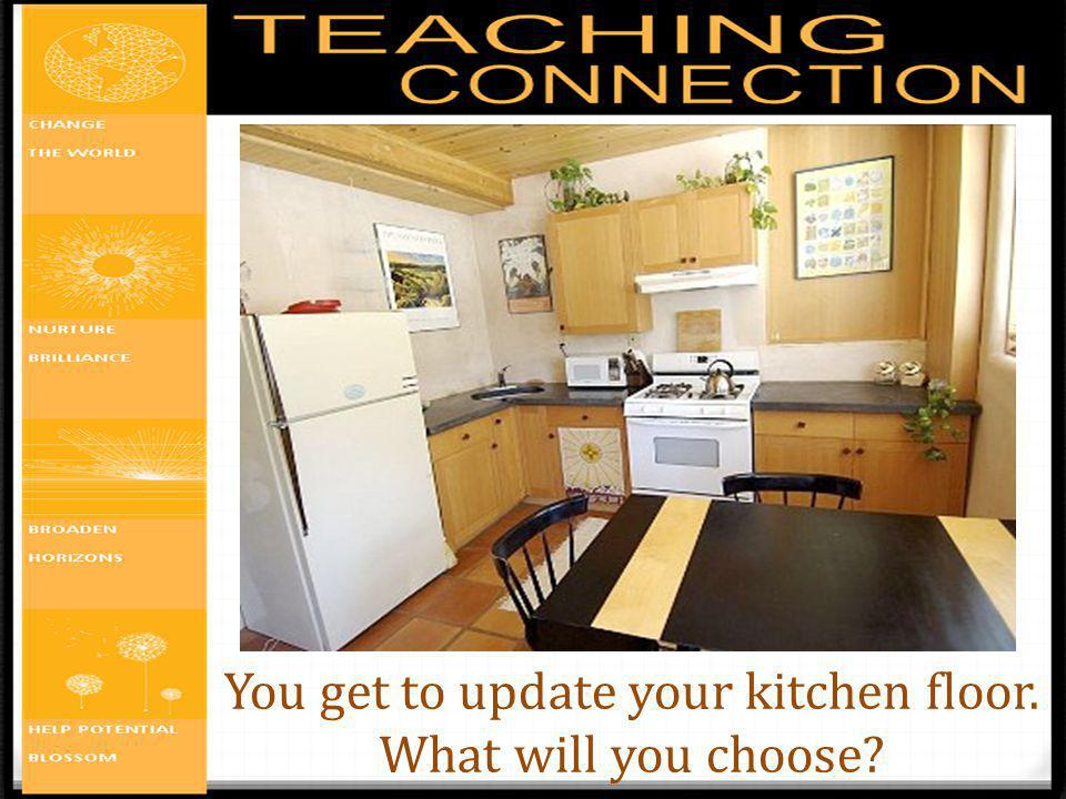 You get to update your kitchen floor. What will you choose
