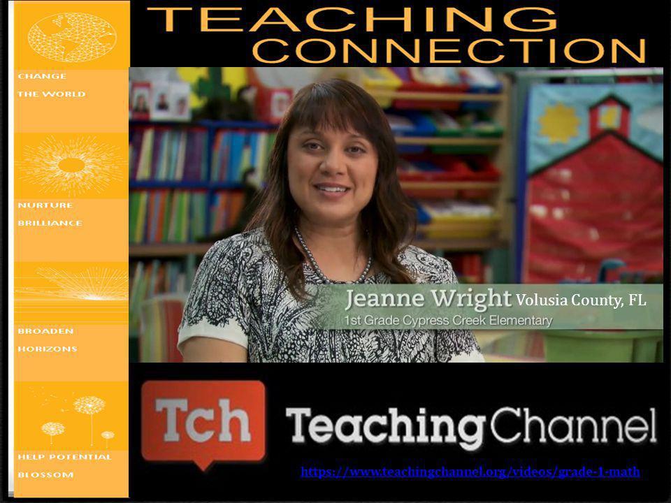 Volusia County, FL https://www.teachingchannel.org/videos/grade-1-math