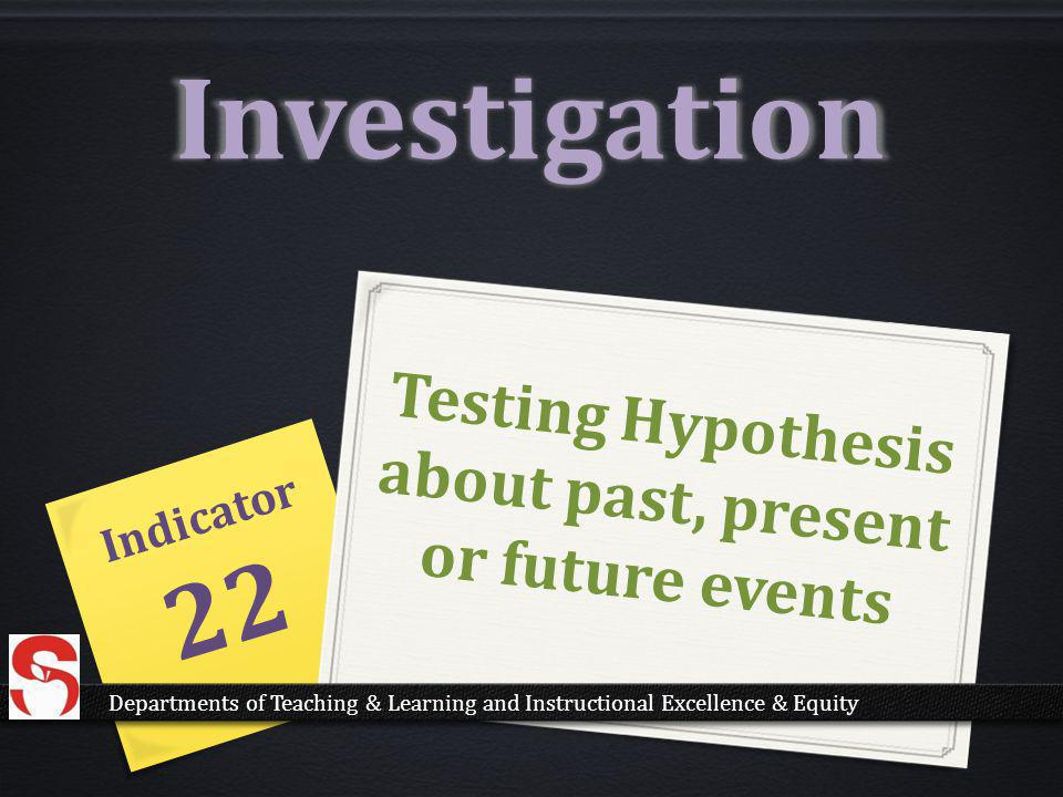 Testing Hypothesis about past, present or future events