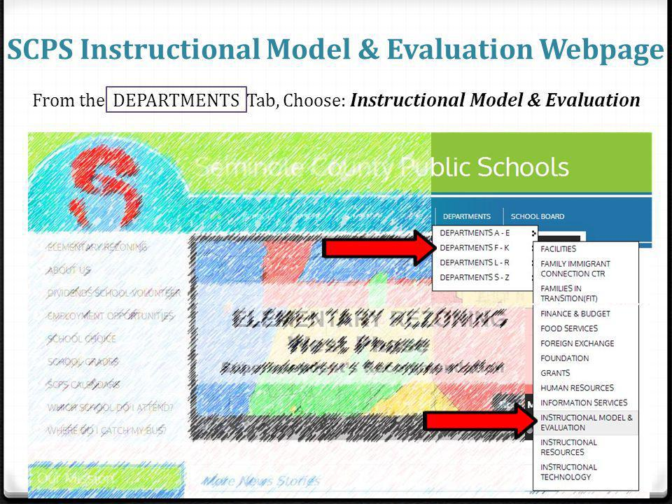 SCPS Instructional Model & Evaluation Webpage