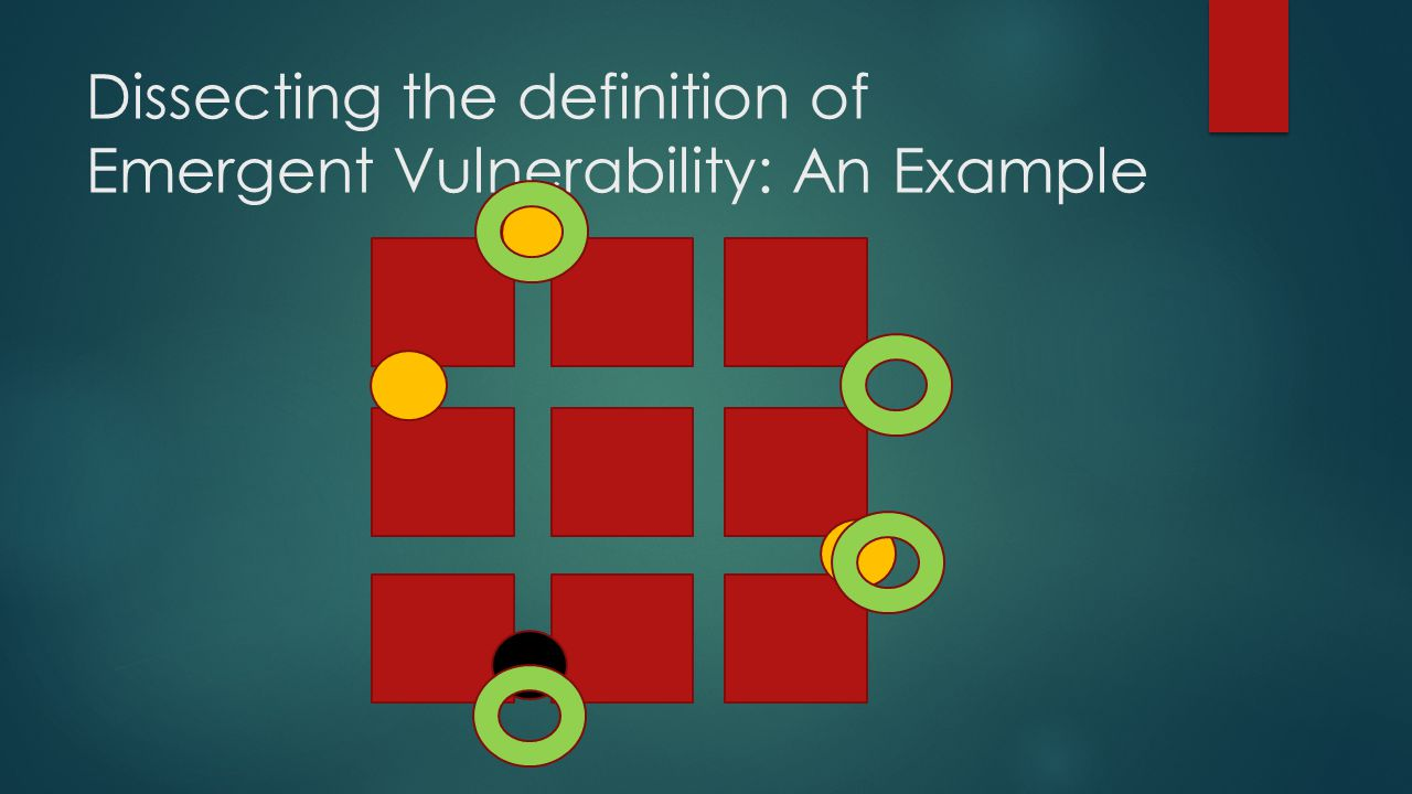 Dissecting the definition of Emergent Vulnerability: An Example