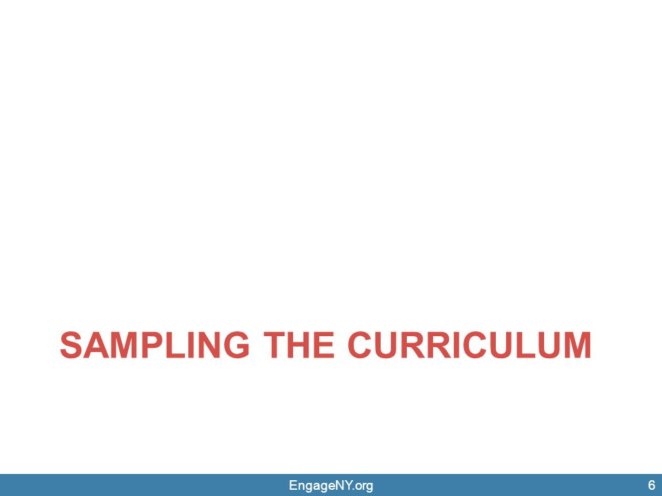 Sampling the Curriculum