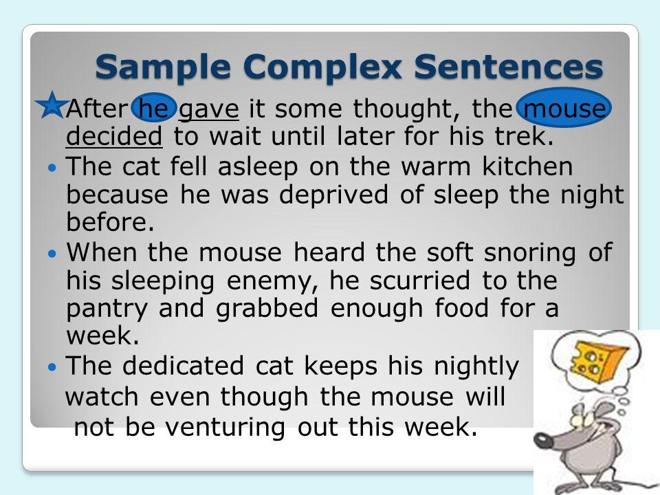 Sample Complex Sentences