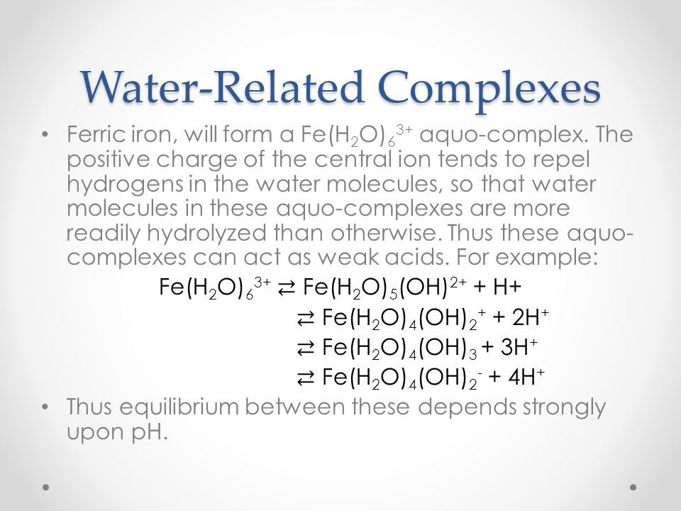 Water-Related Complexes