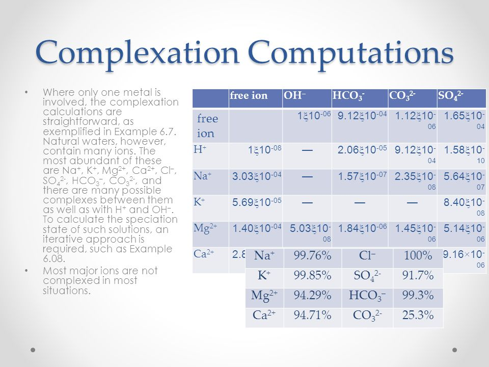 Complexation Computations