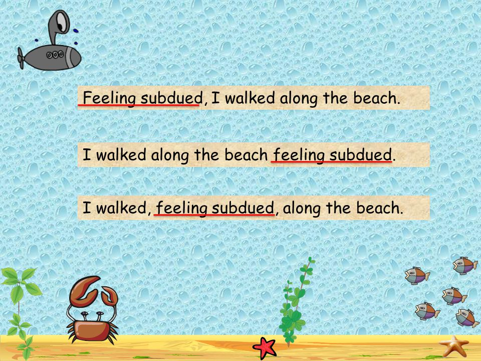 Feeling subdued, I walked along the beach.