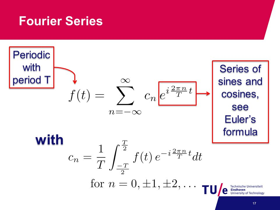 Series of sines and cosines, see Euler's formula