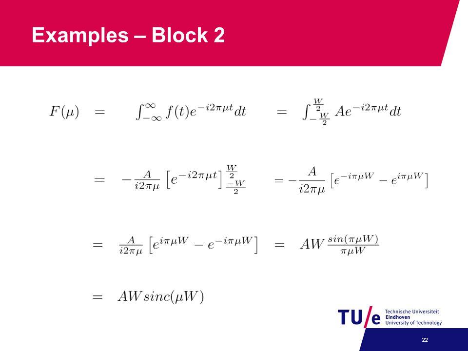 Examples – Block 2