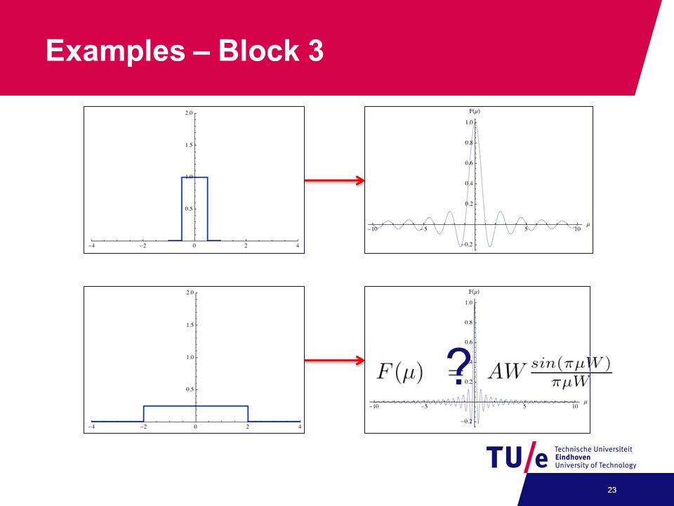 Examples – Block 3