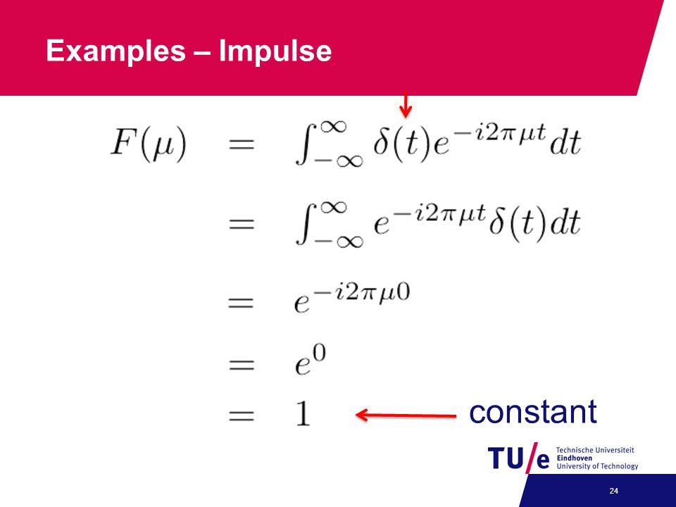 Examples – Impulse constant