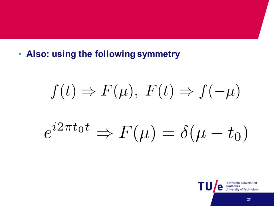 Also: using the following symmetry
