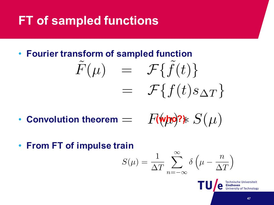 FT of sampled functions
