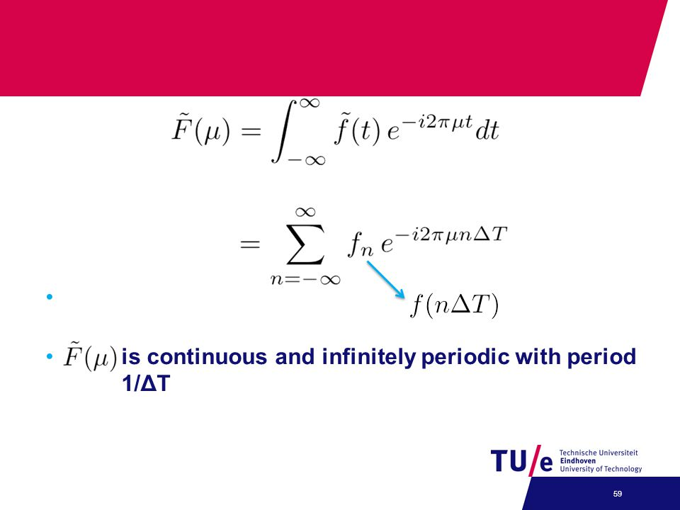 is continuous and infinitely periodic with period 1/ΔT