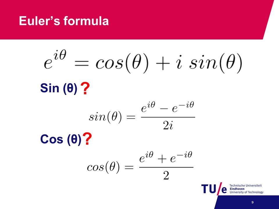 Euler's formula Sin (θ) Cos (θ)