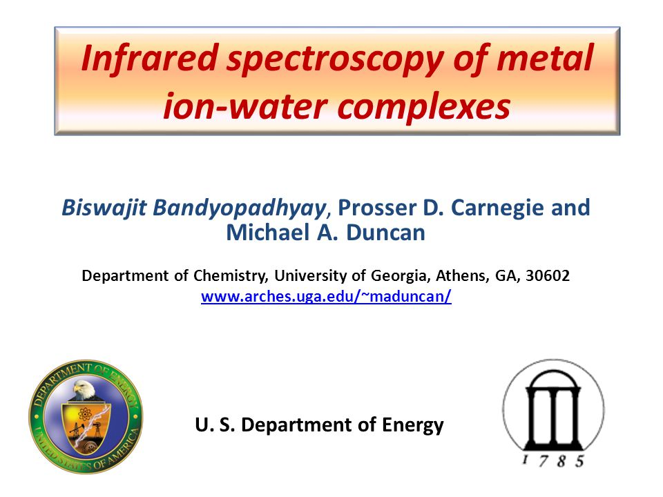 Infrared spectroscopy of metal ion-water complexes