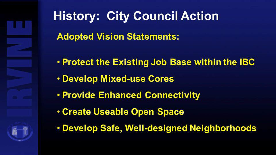 History: City Council Action