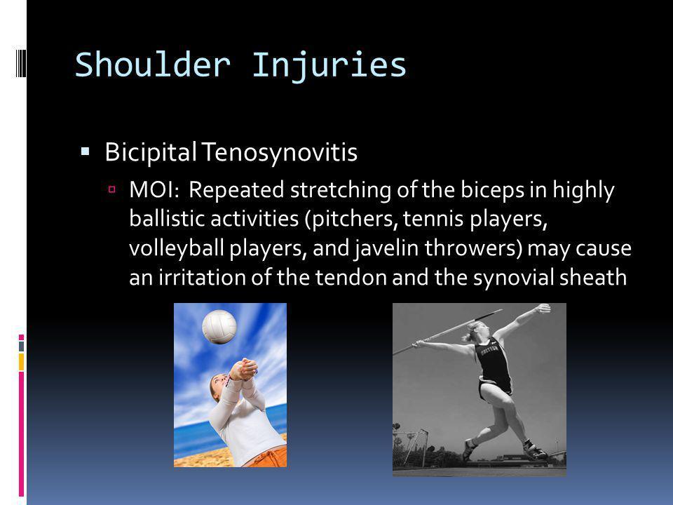 Shoulder Injuries Bicipital Tenosynovitis