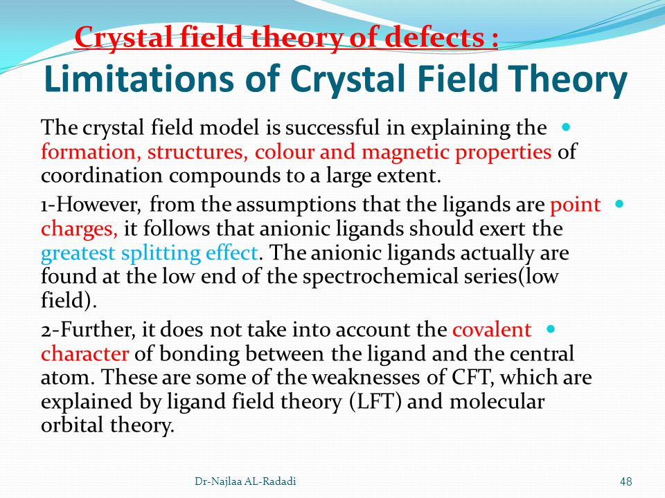 Limitations of Crystal Field Theory