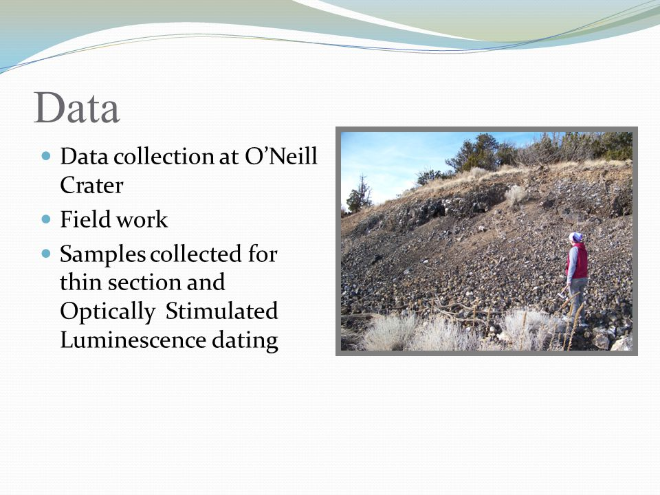Data Data collection at O'Neill Crater Field work