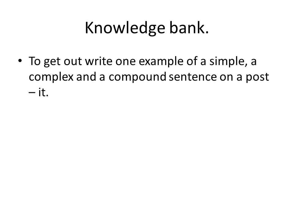 Knowledge bank.