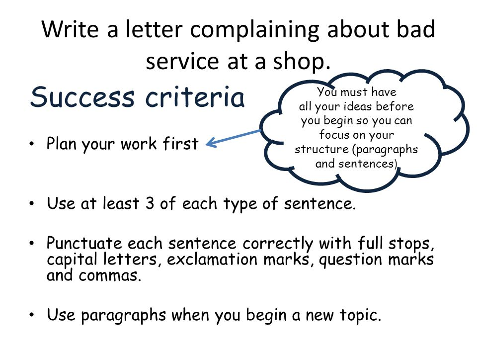 Write a letter complaining about bad service at a shop.