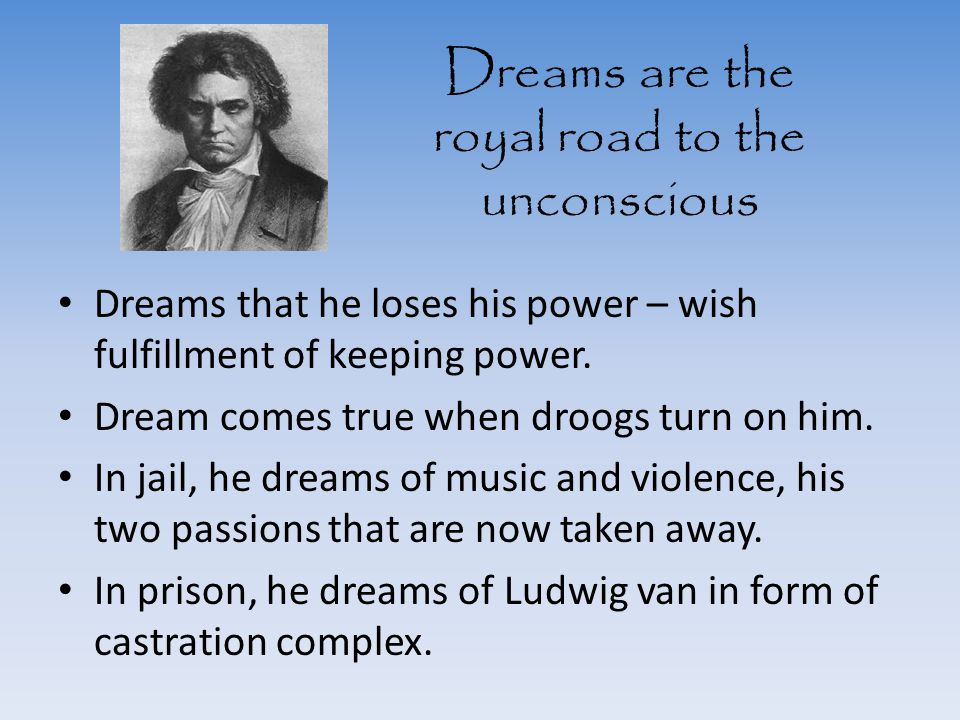 Dreams are the royal road to the unconscious