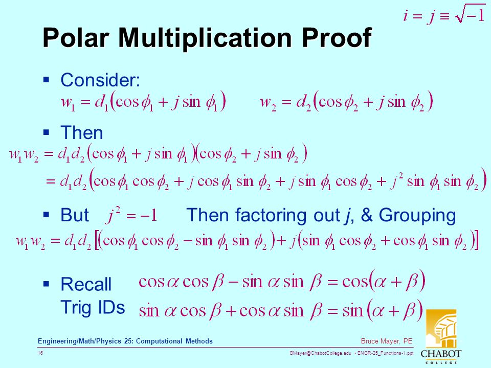 Polar Multiplication Proof