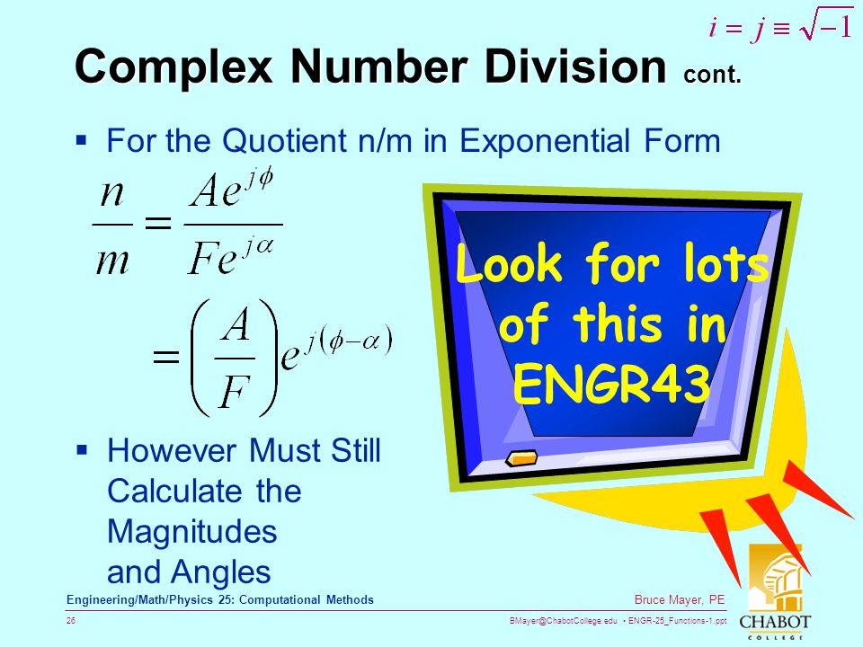 Complex Number Division cont.